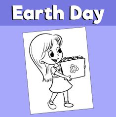 Earth-Day-Girl-Recycling-Coloring-Page-Earth-Day-Girl-Recycling-Coloring-Page-