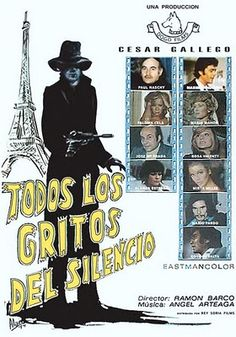 """Todos los gritos del silencio (Ramon Barco, 1974, """"The Killing Fields"""") starring Paul Naschy"""
