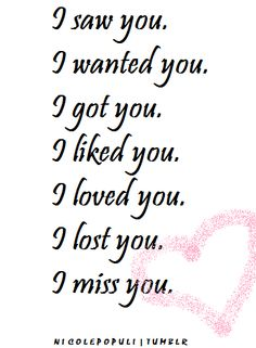 lost love quotes ... loved you i miss you relationships love quotes ...