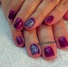 Nail  art rose nail art