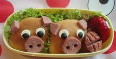 CUTE PIGGY BENTOS, TEDDY BEAR BREADS. KID'S SCHOOL LUNCHES. | Cute ...