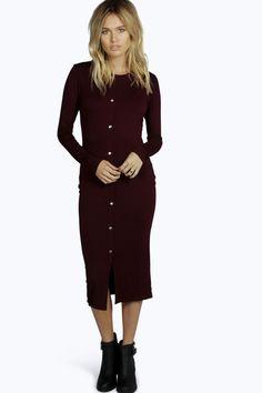 Paloma Popper Front Detail Bodycon Dress