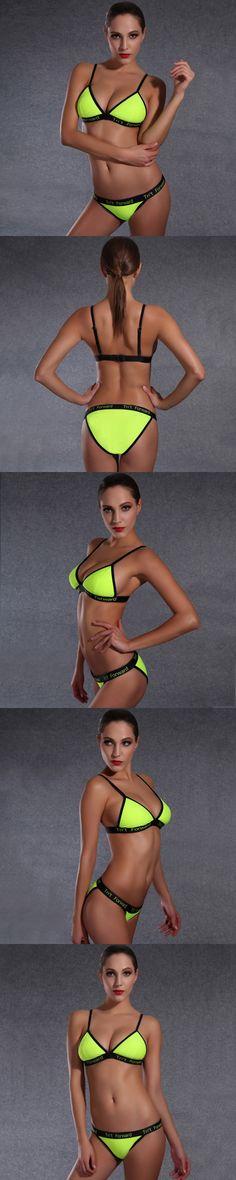 2016 Sexy Hohe qualitat bikini Frau Bademode Sexy Hoher Halter biquini brasilianischen bikini costumi da bagno donna badeanzug