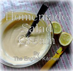 Hooray for the warmer weather and salad season. Salad cream is an ingredient which is used frequently over here in the UK, and quite tra. English Food, English Recipes, British Recipes, Scottish Recipes, Creamy Macaroni Salad, Salad Cream, Creamed Potatoes, Brown Sauce, English Kitchens