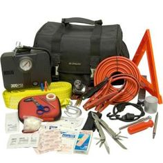 Lifeline 66-Piece Executive Emergency Road Safety and First Aid Kit-4298 at The Home Depot