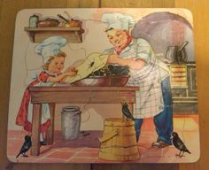 Vintage P & M Co Inc Childs Tray Puzzle  by YesterdaysPleasures, $4.50