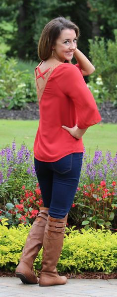 Monday Dress - Lady In Red Blouse