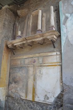 House of the Faun, the fauces, the entrance passageway or vestibule leading to the atrium, decorated in First Pompeian Style, Pompeii (Photo taken by Carole Raddato) -- Ancient History Et Cetera