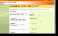 Configuring SP to receive email