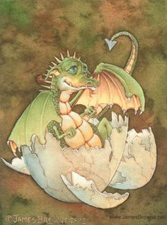 Baby Dragon by James Browne
