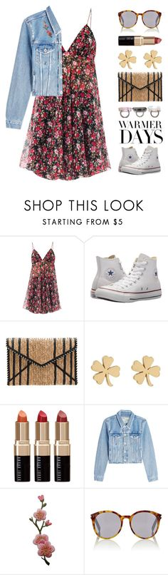 """""""Makinlea"""" by brie-the-pixie ❤ liked on Polyvore featuring Yves Saint Laurent, Converse, Rebecca Minkoff, Jennifer Meyer Jewelry, Bobbi Brown Cosmetics, Off-White and springdresses"""