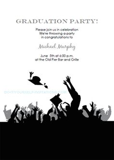 free printable graduation party invitations | free printable party, Party invitations