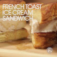 French Toast Ice Cream Sandwich