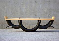 Gangorra de pneus reciclados
