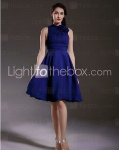 High Neck Knee-length A-line Special Occasion Dresses With Ruffles http://www.lighttothebox.com/special-occasion-dresses.html