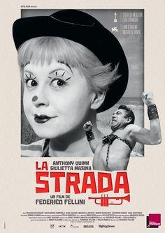 Réalisé par Federico Fellini (1954) Carlo Ponti, Classic Movie Posters, Movie Poster Art, Cinema Posters, Film Posters, The Best Films, Great Movies, Fellini Films, Dramas