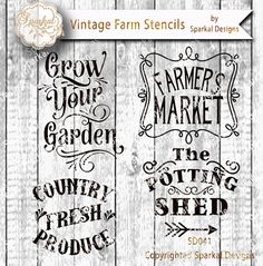 Farmers Market Sign Stencil Bundle Quotes by SparkalSVGDesigns