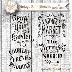 Farmers Market Sign Stencil Bundle Quotes by SparkalSVGDesigns