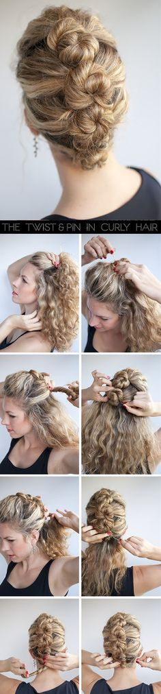 The French Roll Twist & Pin Hairstyle