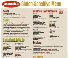 Jason s deli gf menu items pdf more jason s deli eating menu items
