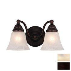 Cascadia Lighting 2-Light Standford Oil-Burnished Bronze Bathroom Vanity Light