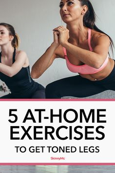 Our 5 At-Home Exercises To Get Toned Legs brings you sleek and slim results from the comfort of your home. You just need to clear up some space! Jump Squats, Gym Workouts, At Home Workouts, Get Toned, Side Lunges, Skinny Ms, Tone It Up, Workout For Beginners
