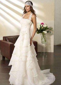 Vintage kleid Hochzeitskleid gr. 38 Villais