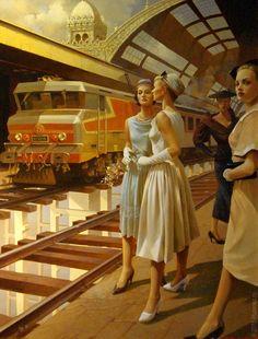 Stanislav Plutenko / Paintings / 2015. The forsaken brides railstation.