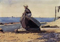 Winslow Homer ~ Waiting For Dad   ~Repinned Via Tim Leighton