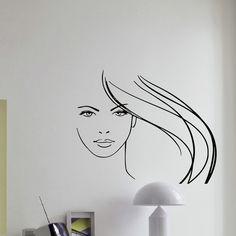 Hair Salon Decor Vinyl Wall Art Decal Sticker