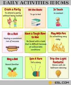 Commonly Used Daily Routines Idioms in English