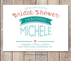 Pin and save: Pin this link and use code THANKS4PINNING to save 10% on your purchase!  https://www.etsy.com/listing/214665624/bridal-shower-invitation-bridal-shower?ref=shop_home_active_13