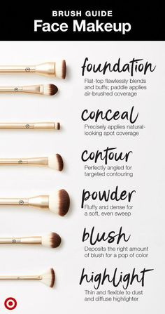 guide for what face brush to use when. Shop the Target-exclusive Sonia Kashuk A guide for what face brush to use when. Shop the Target-exclusive Sonia Kashuk . -A guide for what face brush to use when. Shop the Target-exclusive Sonia Kashuk . Makeup Brush Uses, Makeup 101, Makeup Guide, Makeup Hacks, Makeup Inspo, Makeup Tools, Makeup Ideas, Makeup Geek, Makeup Basics