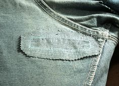 31 DIY Hacks for Stained and Ruined Clothes Holey Jeans, Patched Jeans, My Jeans, Ripped Jeans, How To Patch Jeans, Thigh Rub, Sewing Jeans, Couture Outfits, Costume Patterns