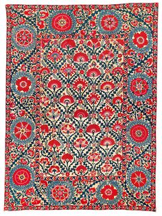 Lot 157, Shahrisyabz suzani, Uzbekistan. Sold for €43,920