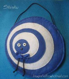 Shishu bolso de fieltro fieltro  abalorios  lazo cosido y pegado