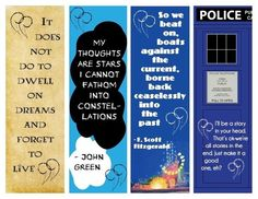 printable bookmarks with quotes from books - Google Search