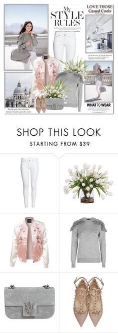 """Casual cools!!"" by lilly-2711 ❤ liked on Polyvore featuring Lux-Art Silks, LE3NO, Topshop, Alexander McQueen, Proenza Schouler and Etiquette"