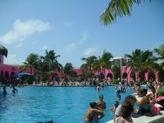 The saltwater pool in Costa Maya, Mexico. It had little shops all around it. It was so beautiful!