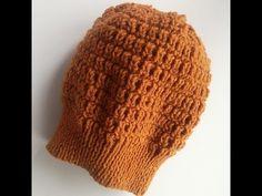 Вязаная шапка спицами. Женская шапка. Красивый узор. - YouTube