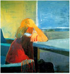 """ ~Diebenkorn~ Woman at a Window (1957) """
