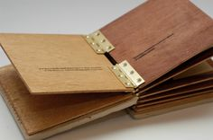 Memory Book Project - University Level 1 by Jaye Louis Douce, via Behance/// great use of hinges Book Binding Design, Book Design, Pop Up, Wooden Books, Arte Sketchbook, Portfolio Book, Brand Book, Paper Book, Book Projects