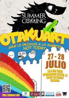 Otakuart 2013, 27 i 28 de Juliol a Quart de Poblet http://quartjove.quartdepoblet.es/index.php/otakuart-2013-27-i-28-de-juliol-a-quart-de-poblet/