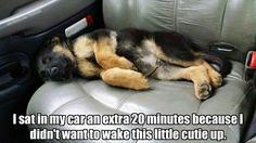 don't wake the sleeping baby