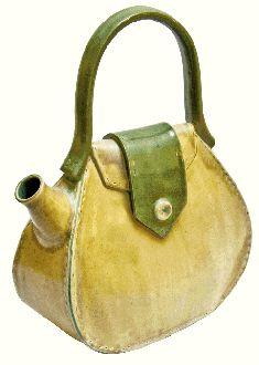 "Haute hand-built ""tea bag"" by Meghan Runkle Bernard of Rare Earth Studio"