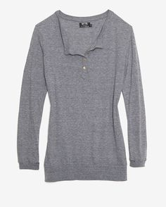 Nation LTD EXCLUSIVE Elongated Henley: Grey