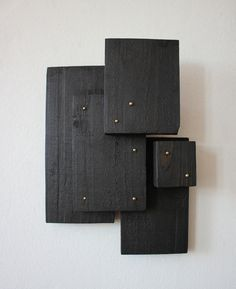 TILDE GRYNNERUP Geometric Sculpture, Modern Sculpture, Wood Sculpture, Wall Sculptures, Wood Wall Art Decor, Reclaimed Wood Wall Art, Wood Mosaic, Happy House, Wood Pieces
