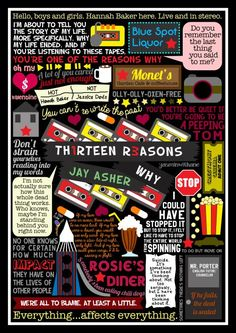 Thirteen Reasons Why book collage