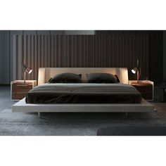 Signs On Orren Ellis Lavonne Upholstered Platform Bed You Need To Know About 26 - gameofthron All White Bedroom, Modern Master Bedroom, Master Bedroom Design, Master Room, Minimalist Bedroom, Bedroom Furniture Sets, Sofa Furniture, Room Decor Bedroom, Bed Room