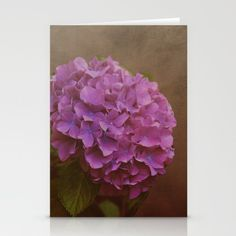 Pink hydrangea with a touch of blue Stationery Cards